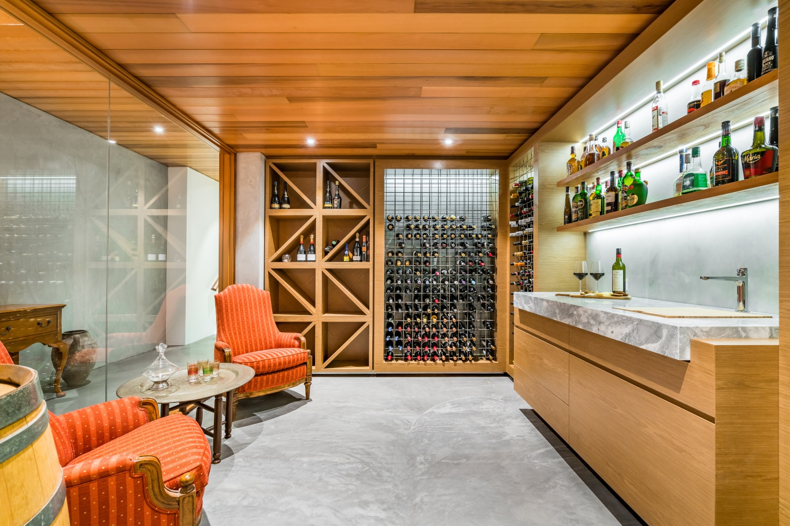 Modern Wine Cellar in Perth, Australia