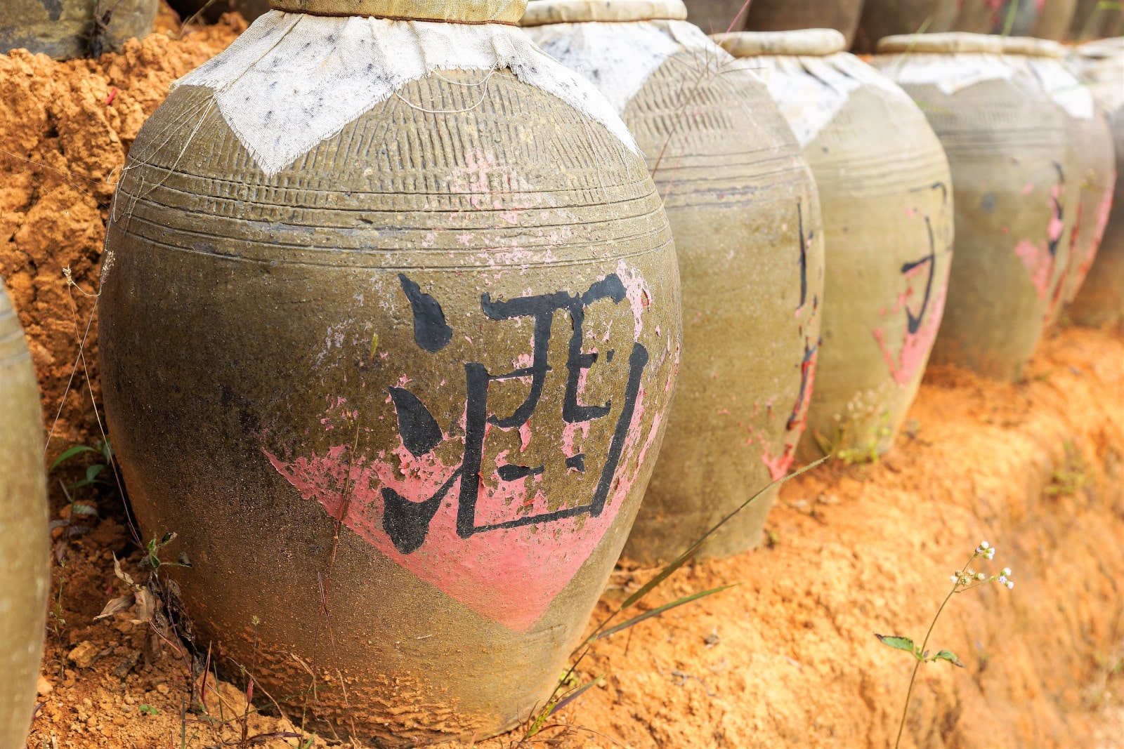 Traditional Chinese Rice Wine Jars