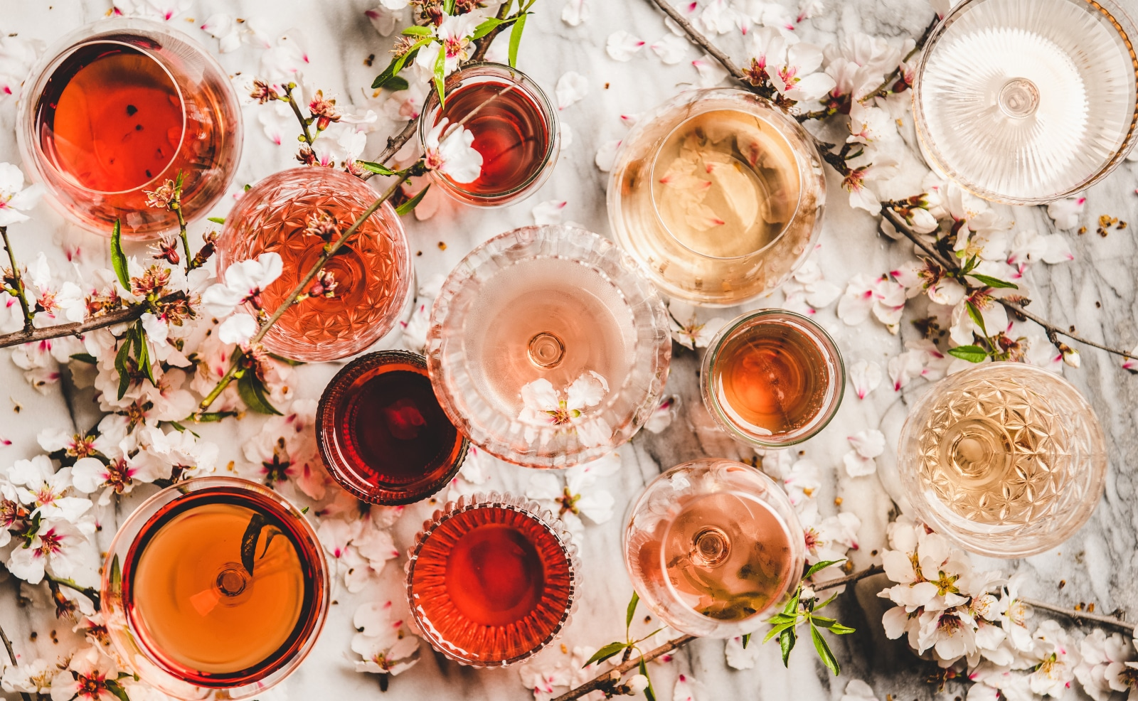 Various Shades of Rosé Wine