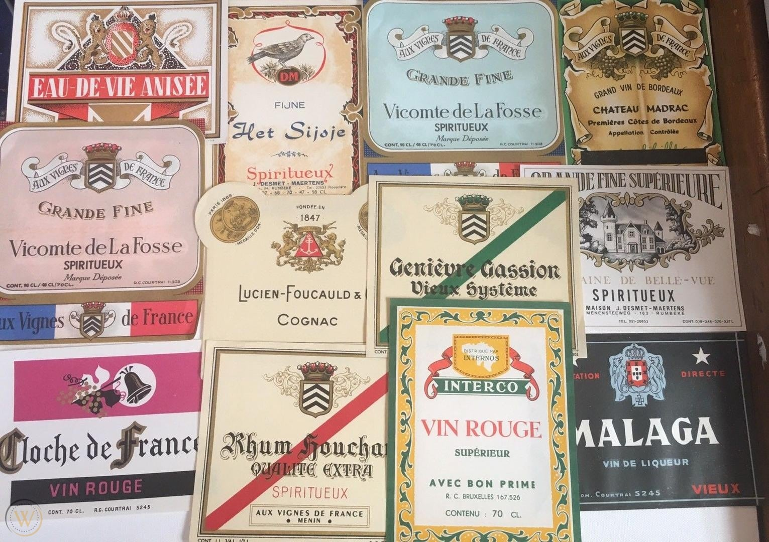Vintage French Wine Labels